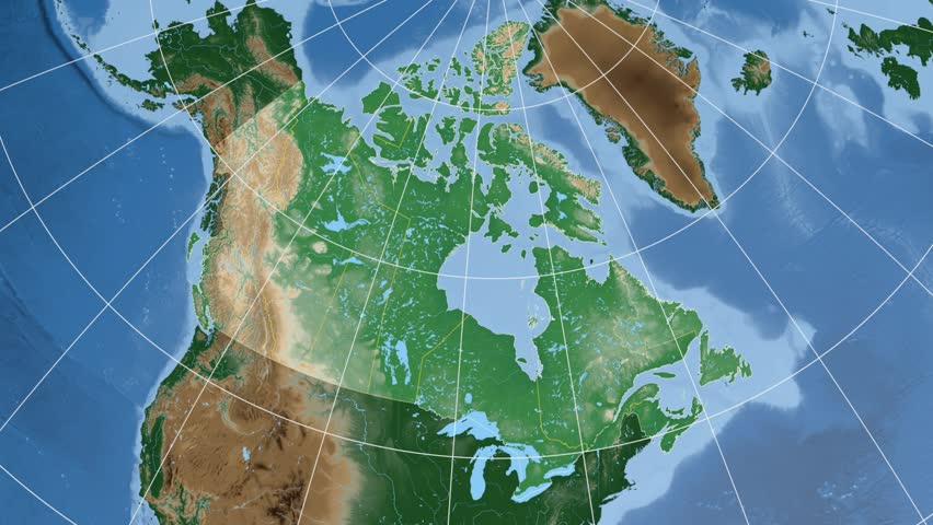 Alberta Province Extruded On The Physical Map Of Canada Rivers - Canada physical map
