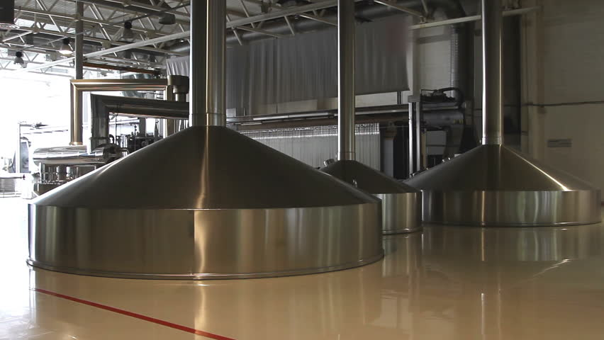 Brewing production - mash vats | Shutterstock HD Video #9817265
