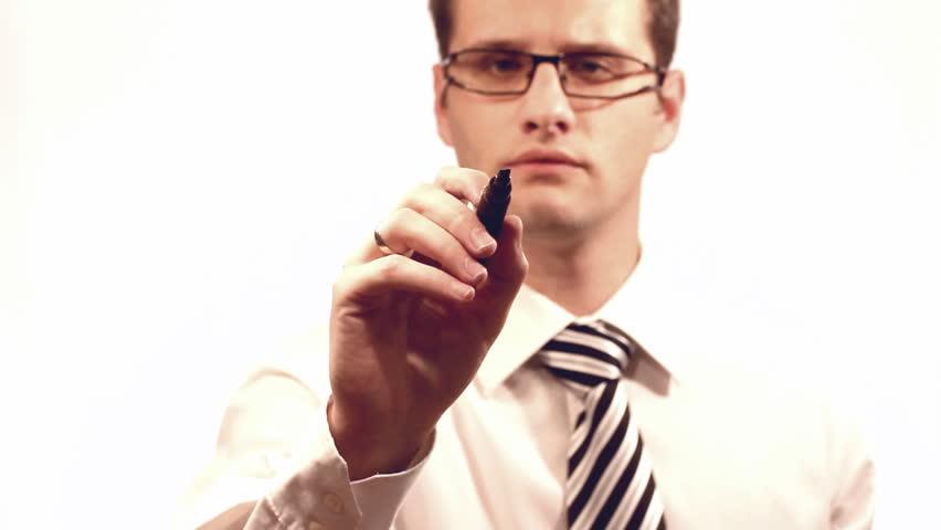Businessman drawing a organization chart   Shutterstock HD Video #994135